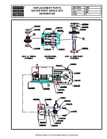 bodine electric dc motor wiring diagram Download-replacement parts 42a gb right angle dc Bodine Electric pany 3-j