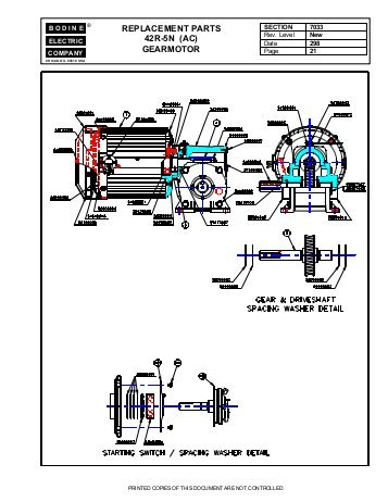 bodine electric dc motor wiring diagram Collection-replacement parts 42r 5n ac gearmotor Bodine Electric pany 20-t