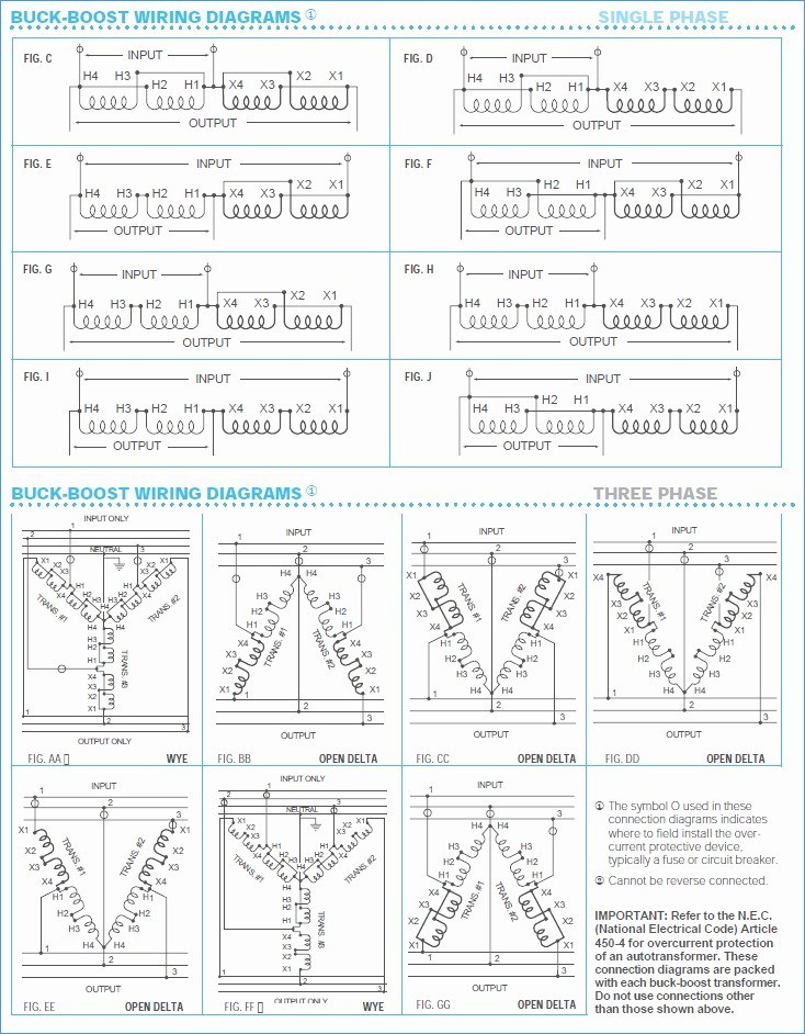 Buck    Boost       Transformer       208    to 230 Wiring    Diagram    Sample