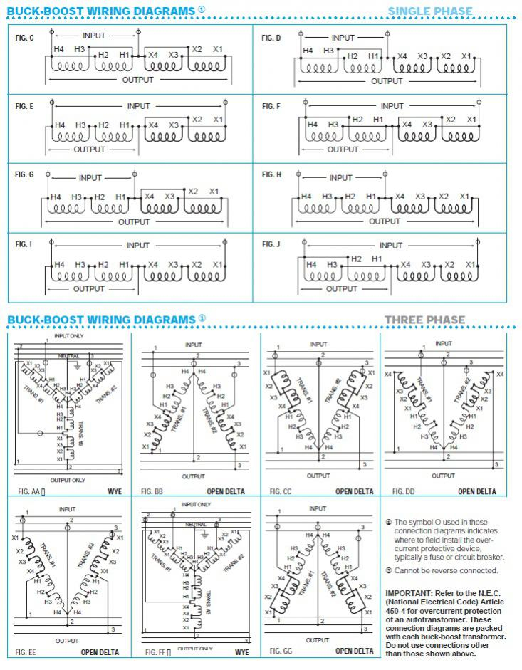 Buck Boost Transformer 208 To 240 Wiring Diagram Sample
