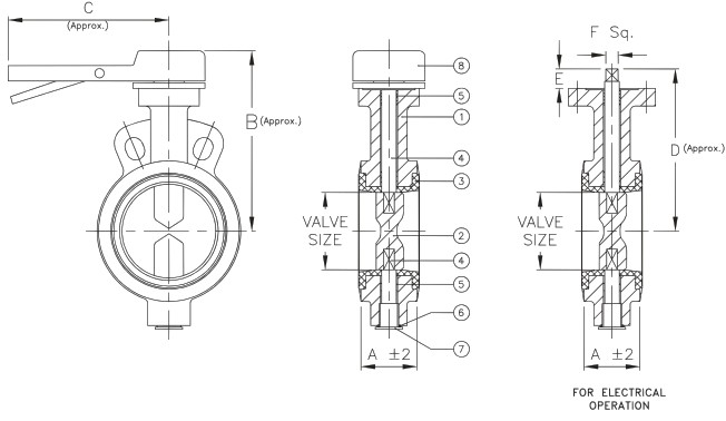 butterfly valve wiring diagram Download-IVC wafer butterfly valve valvula mariposa 1-b