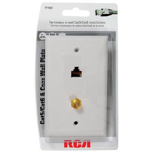 cat 5 wall jack wiring diagram Collection-Amazon RCA Cat 5 6 F Connector Wall Plate TPH557R Home Audio & Theater 14-c