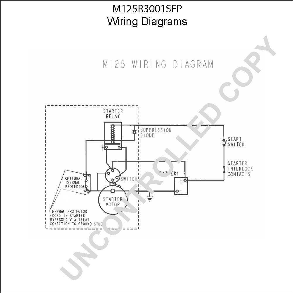 caterpillar starter wiring diagram Download-M125R3001SEP Wiring Diagram 19-b