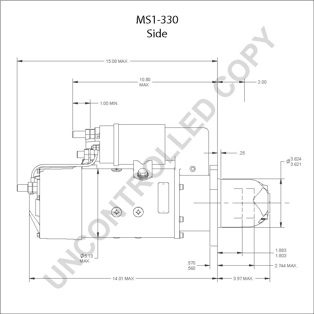 caterpillar starter wiring diagram Collection-MS1 330 Side Dim Drawing 5-k