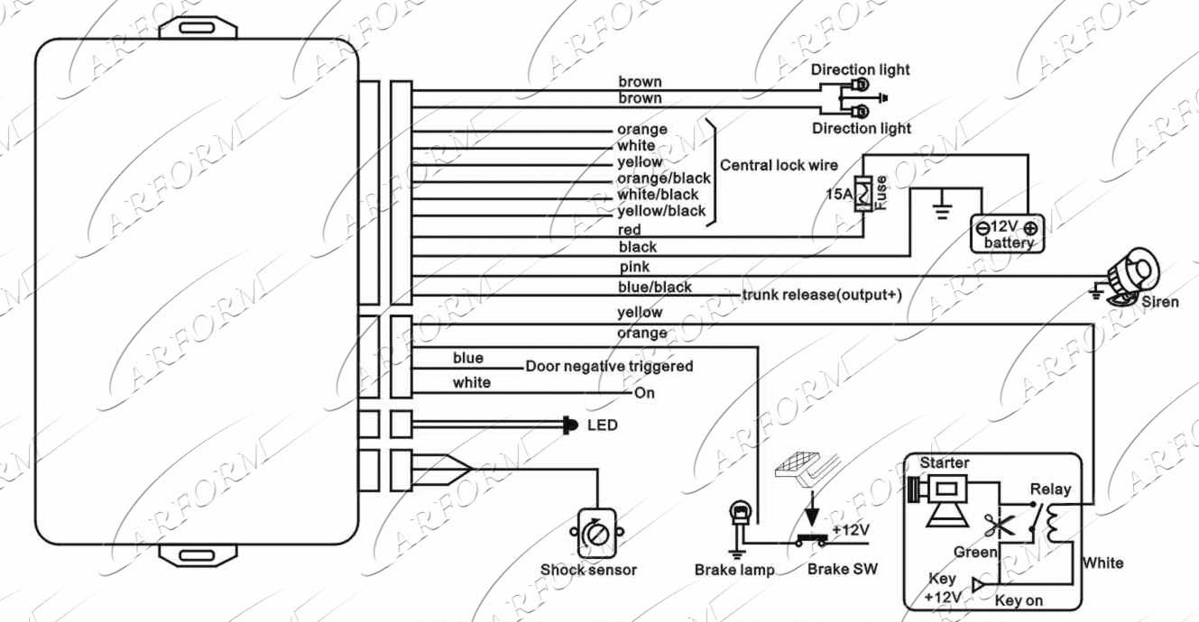 chapman vehicle security system wiring diagram Collection-Car Security System Wiring Diagram At 9-q