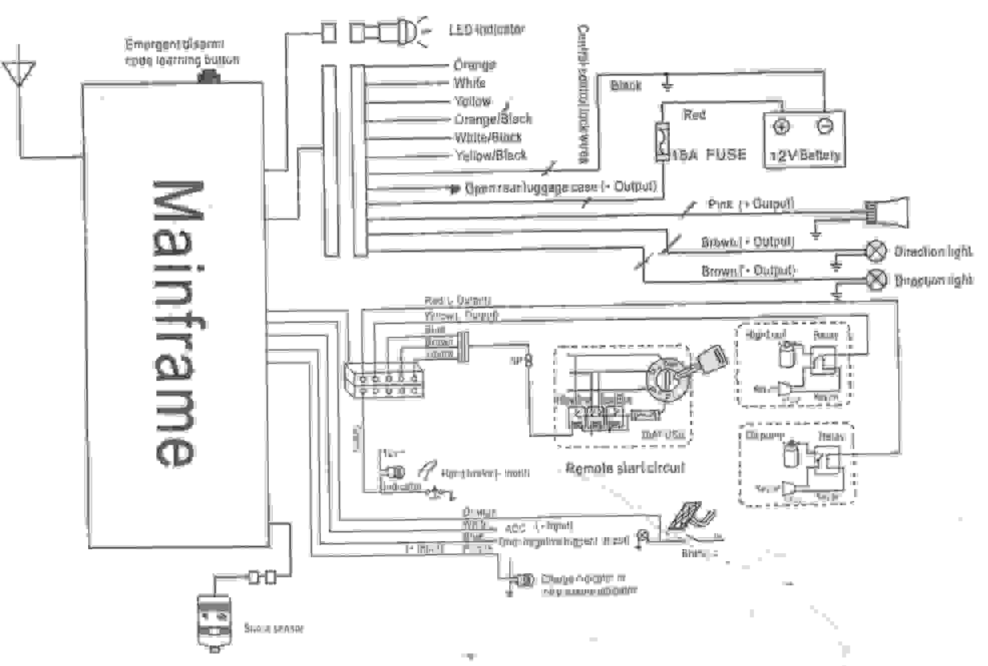 chapman vehicle security system wiring diagram Download-Wiring Diagram Alarm Motorcycle Inspirationa Car Alarm System Wiring Diagram 8-j