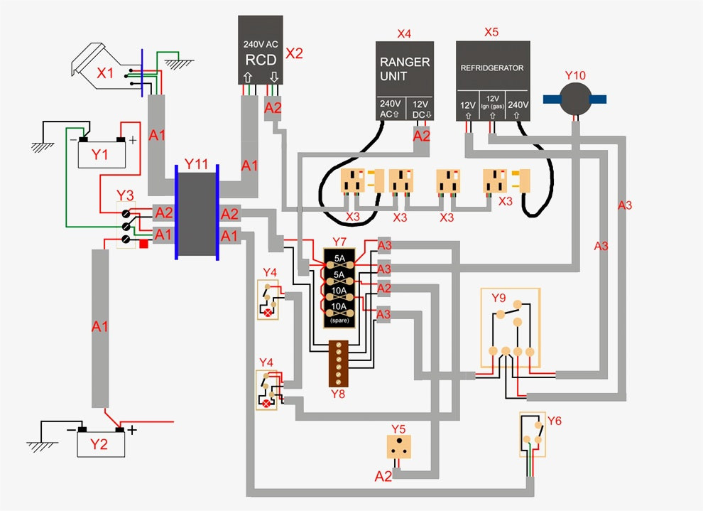 circuit breaker wiring diagram Collection-How to Wire A Circuit Breaker Inspirational Fridge Diagram Awesome 12v Trailer Wiring Diagram 0d 1-p