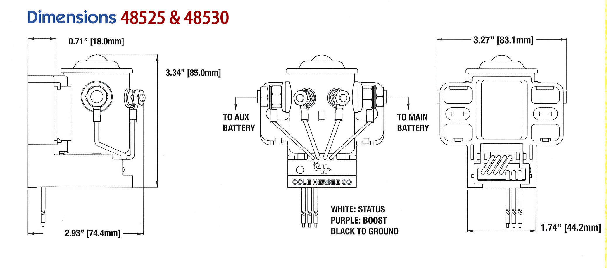 cole hersee solenoid wiring diagram Collection-Cole Hersee 200A Smart Battery Isolator AC DC Marine Inc Striking Wiring 17-o
