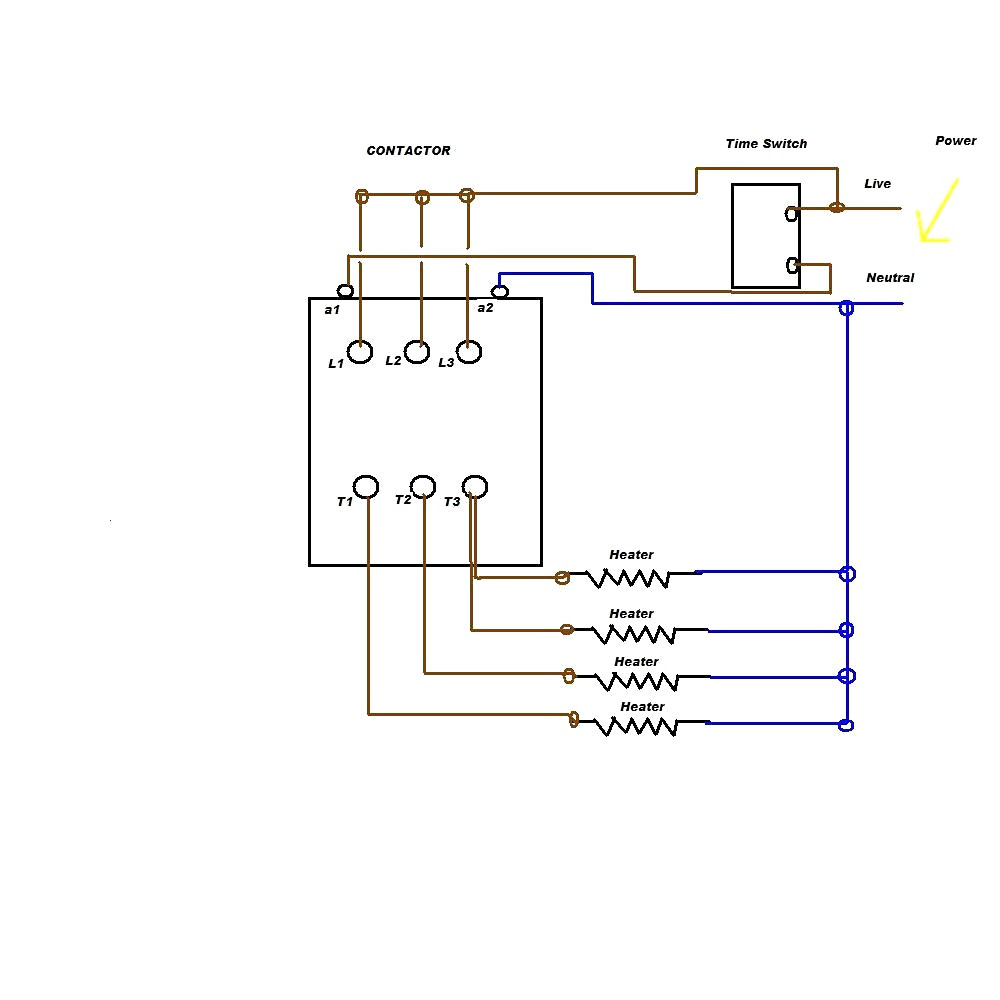 Contactor Wiring Diagram A1 A2 Sample
