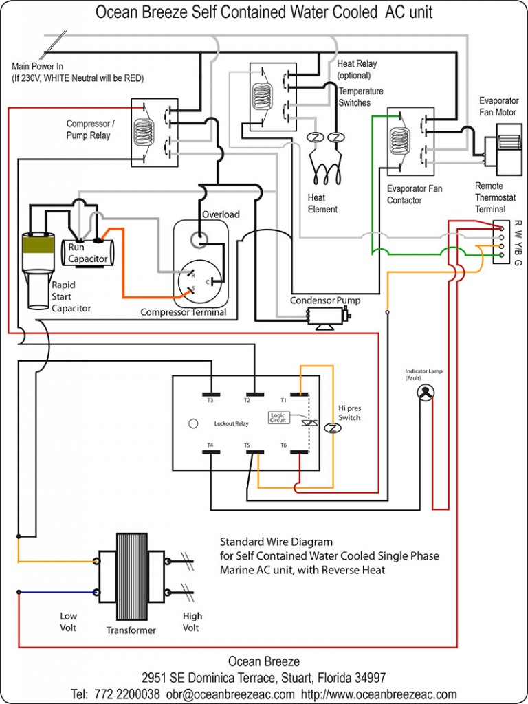 contactor wiring diagram ac unit Collection-Goodman Contactor Wiring Diagram 7-t