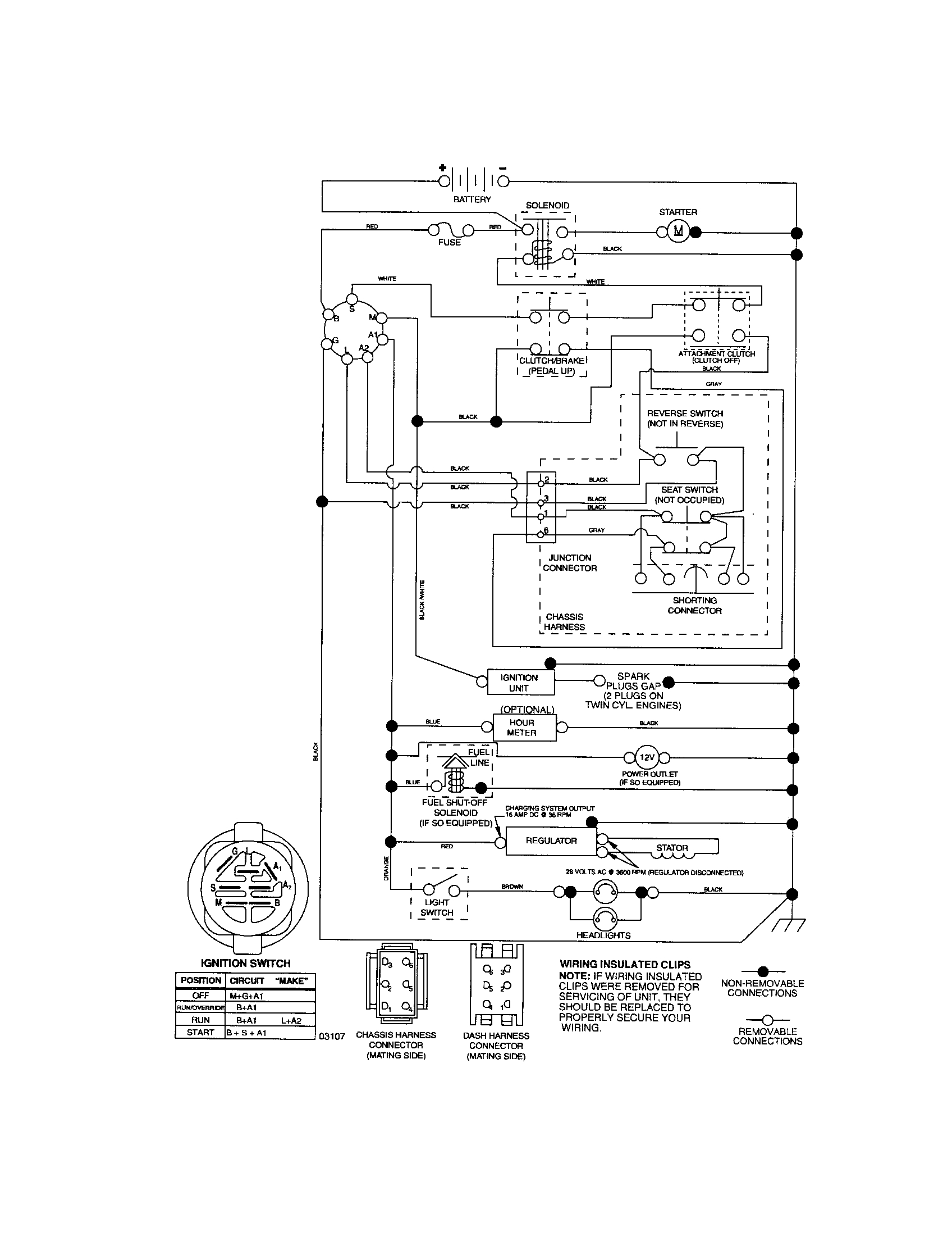 craftsman pto switch wiring diagram Download-Craftsman Riding Mower Electrical Diagram 5-l