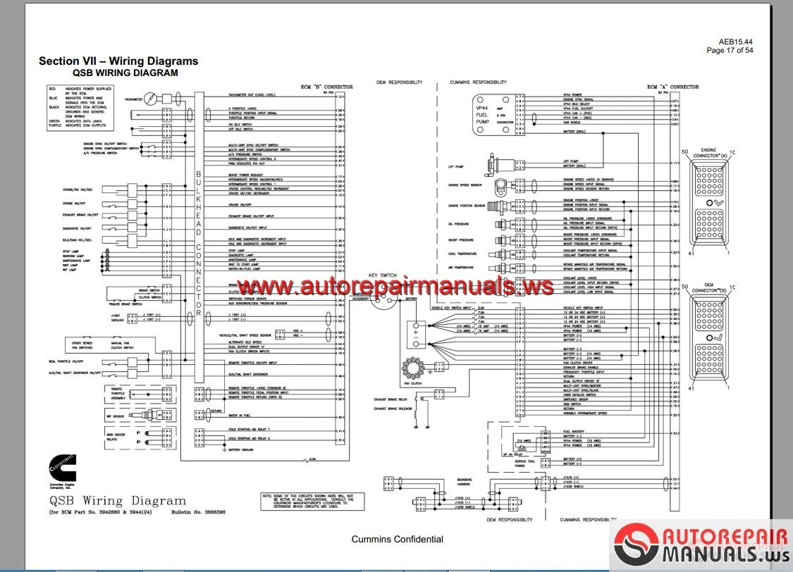 Cummins ism Ecm Wiring Diagram Gallery | Wiring Collection