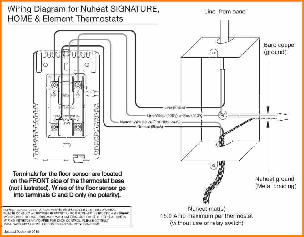 ditra heat thermostat wiring diagram Collection-Nuheat Wiring Diagram Unique thermostat Wiring Diagram & Ritetemp thermostat Wiring Diagram&quot 15-c