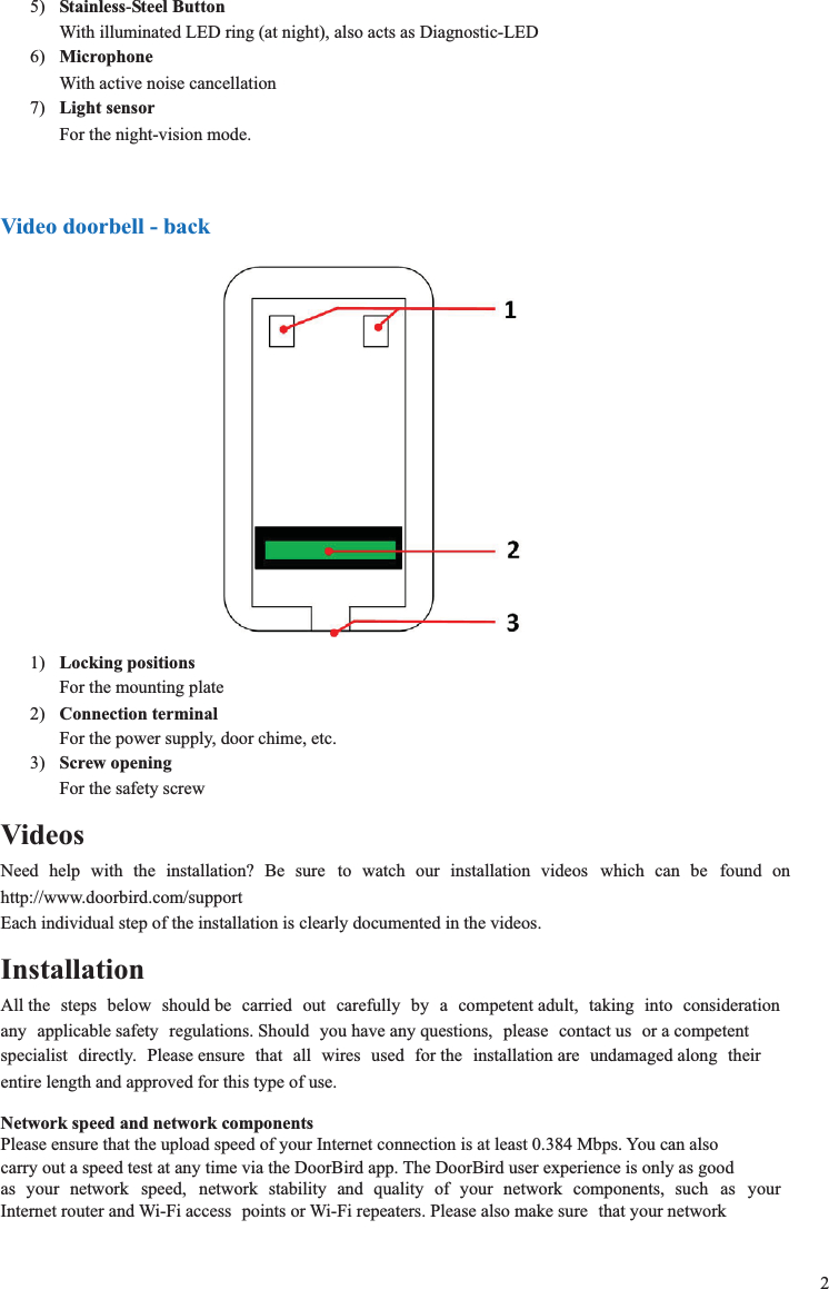 doorbird wiring diagram Collection-DBRDA DoorBird User Manual manual doorbird en rtf Bird Home 4-e