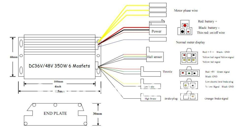 electric awning wiring diagram Collection-Electric Bike Controller Wiring Diagram in addition Electric Motor Wire Connectors additionally Electric Bicycle Controller Razor 14-d