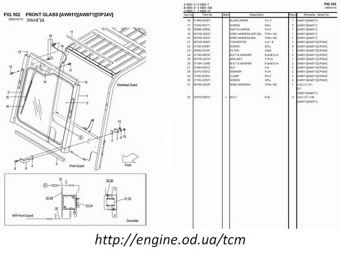 electric forklift wiring diagram Download-Pages from TCM forklift Parts Catalog 3-e
