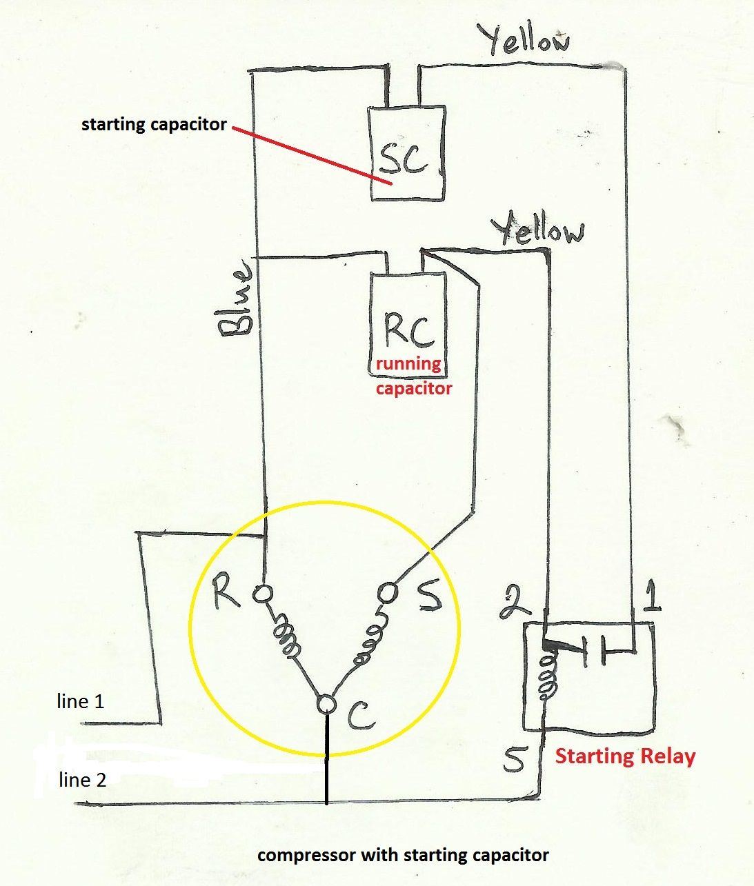 electric motor capacitor wiring diagram Collection-Air pressor Capacitor Wiring Diagram Before you call a AC repair man visit my blog for some tips on how to save thousands in ac repairs 2-h