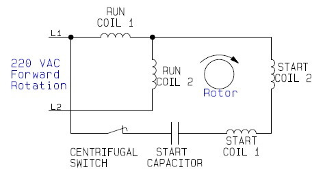 electric motor reversing switch wiring diagram Collection-Internal Wiring Configuration For Dual Voltage Rotation Throughout Single Phase Motor With Capacitor Forward And Reverse 3-p