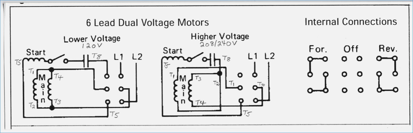 Electric Motor Wiring Diagram 220 to 110 Sample | Wiring ...