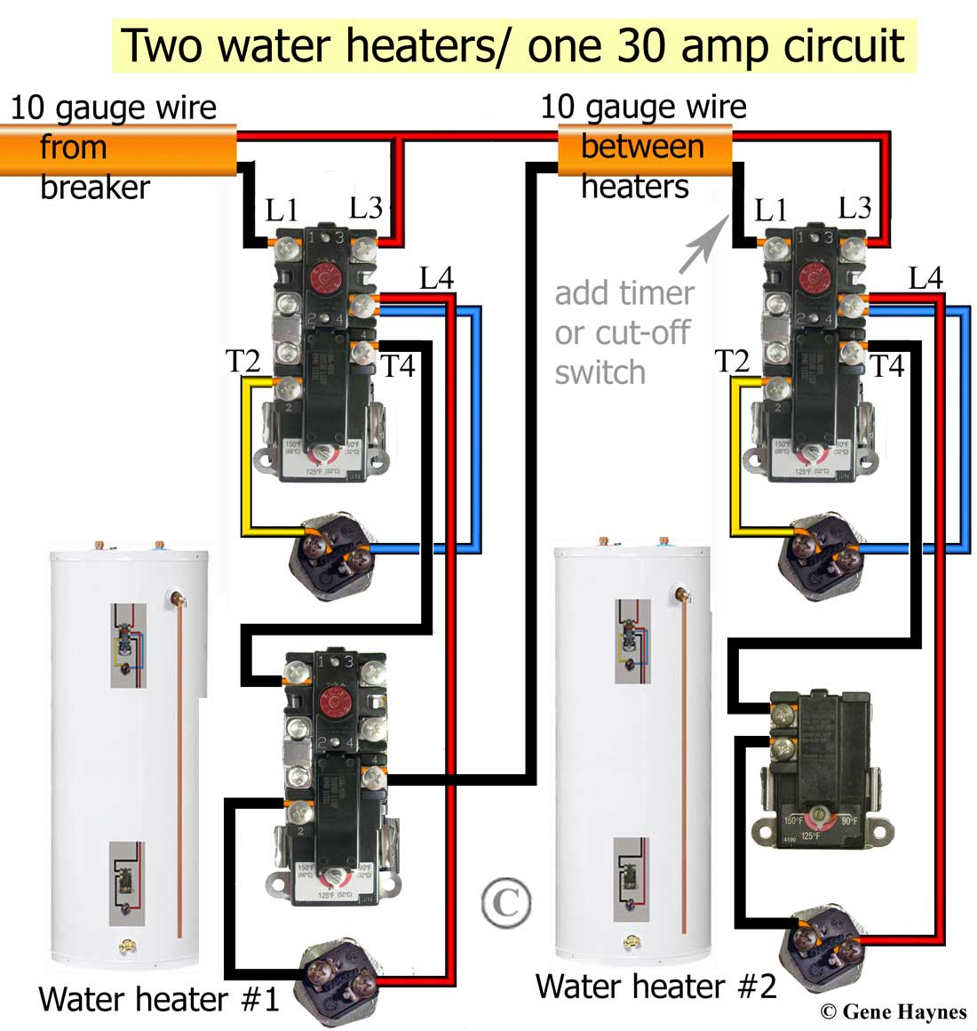 electric water heater thermostat wiring diagram Collection-Rheem Electric Water Heater Wiring Diagram New How to Wire Water Heater thermostats 2-f