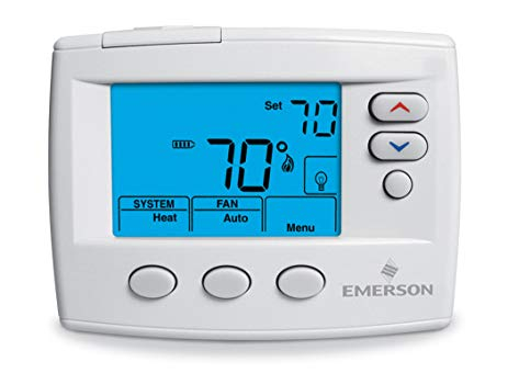 emerson digital thermostat wiring diagram Collection-Emerson 1F86 0471 Single Stage Non programmable Thermostat 24 Volt or Millivolt 9-i