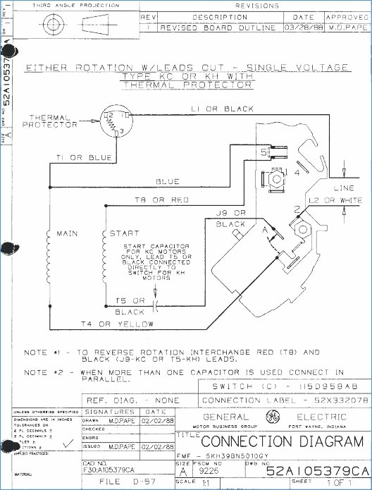 emerson motor wiring diagram Download-Awesome Emerson Electric Motor Wiring Diagram Frieze Schematic 19-d