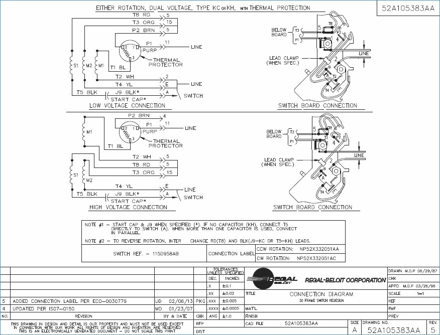 emerson motor wiring diagram Collection-Awesome Emerson Electric Motor Wiring Diagram Frieze Schematic 2-d