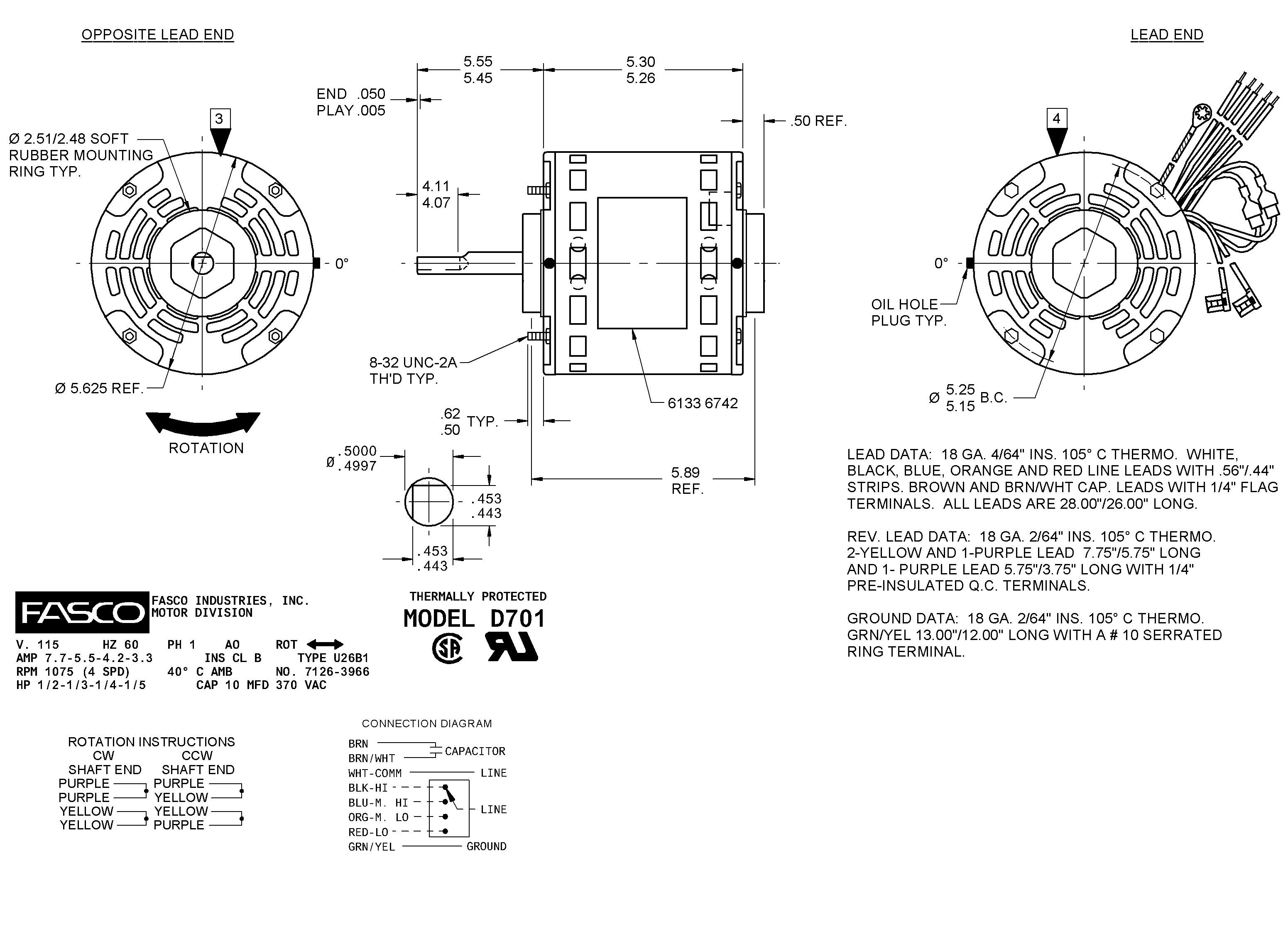 fasco blower motor wiring diagram Collection-Wiring Diagram For Fasco Blower Motor Refrence D701 Fasco 12 In Motor Wiring Diagram With Wiring Diagram 3-h