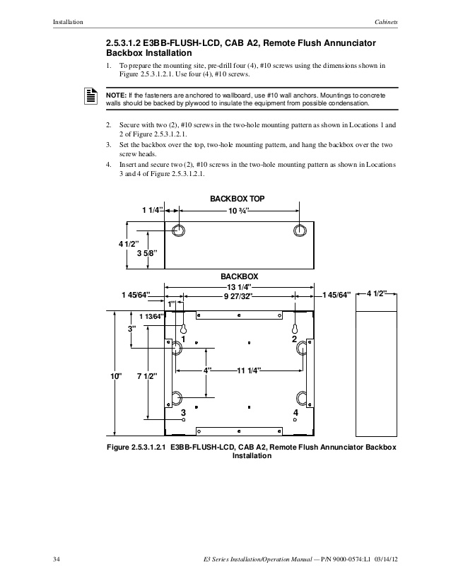 fci lcd 7100 wiring diagram Collection-Remote Flush Annunciator 34 34 E3 Series Installation Operation Manual 20-h