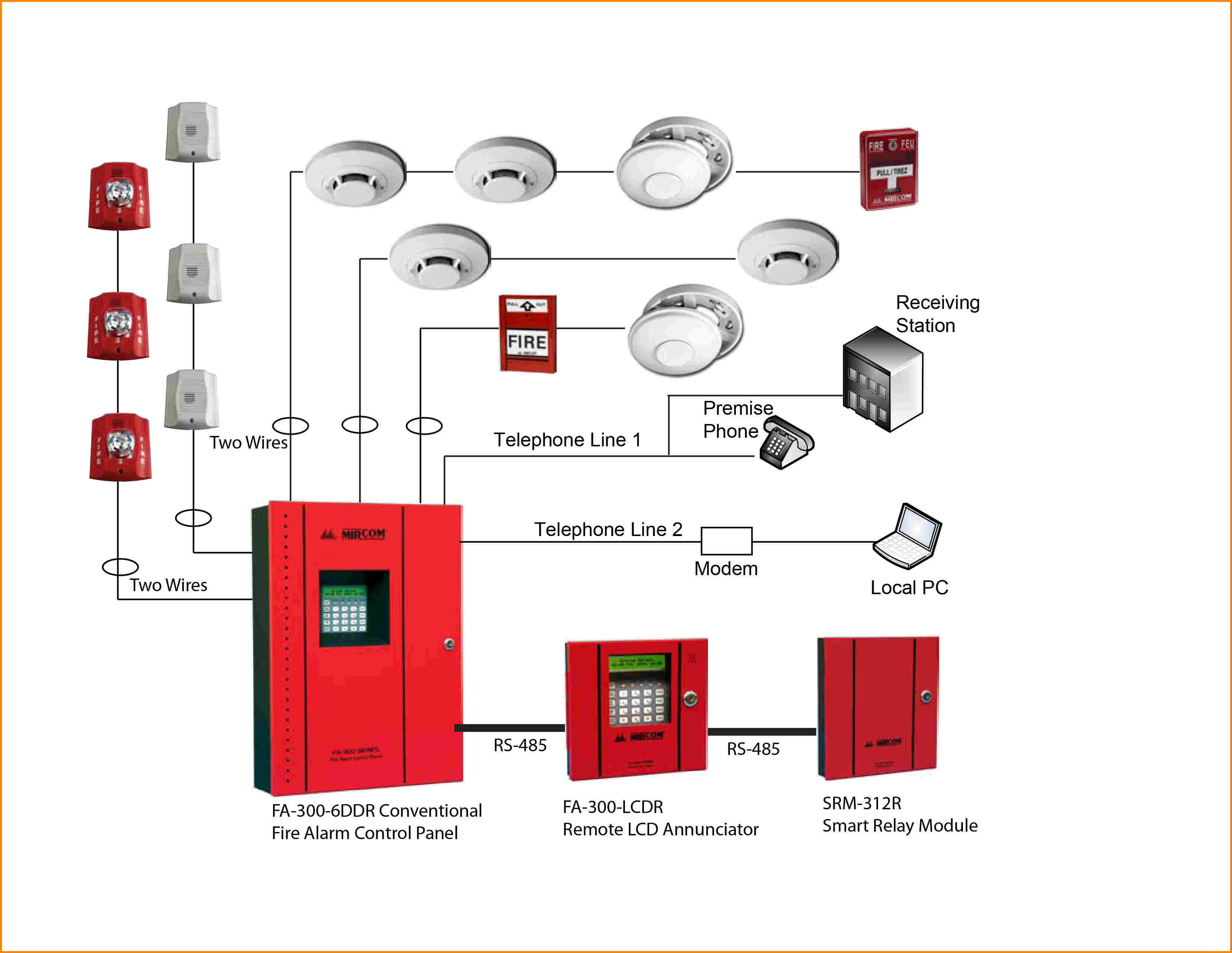 fire alarm installation wiring diagram Collection-conventional smoke detector wiring diagram gst marvelous point with addressable fire alarm 4-q