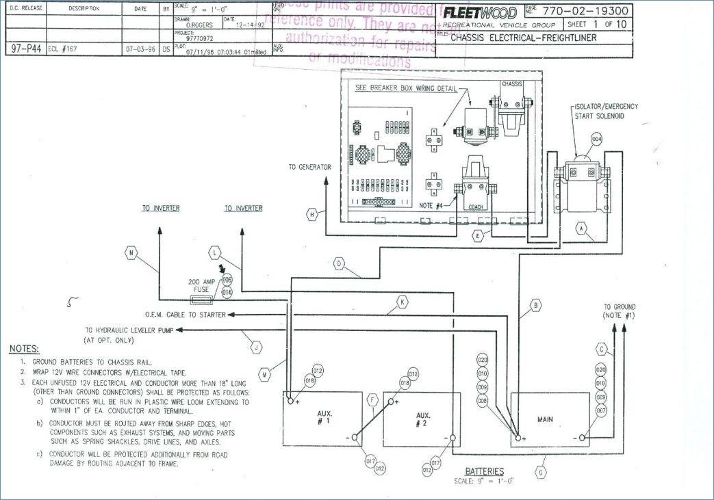 fleetwood rv wiring diagram sample