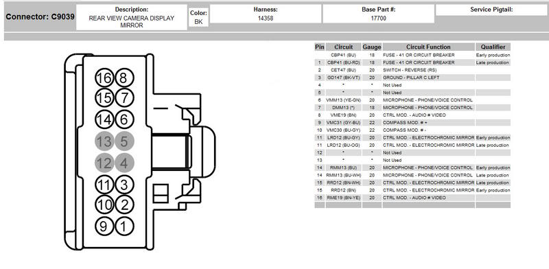 ford f150 backup camera wiring diagram Download-Ford F150 Backup Camera Wiring Diagram Fresh F150 16 Pin Reverse Camera Mirror Question Input ford 1-e