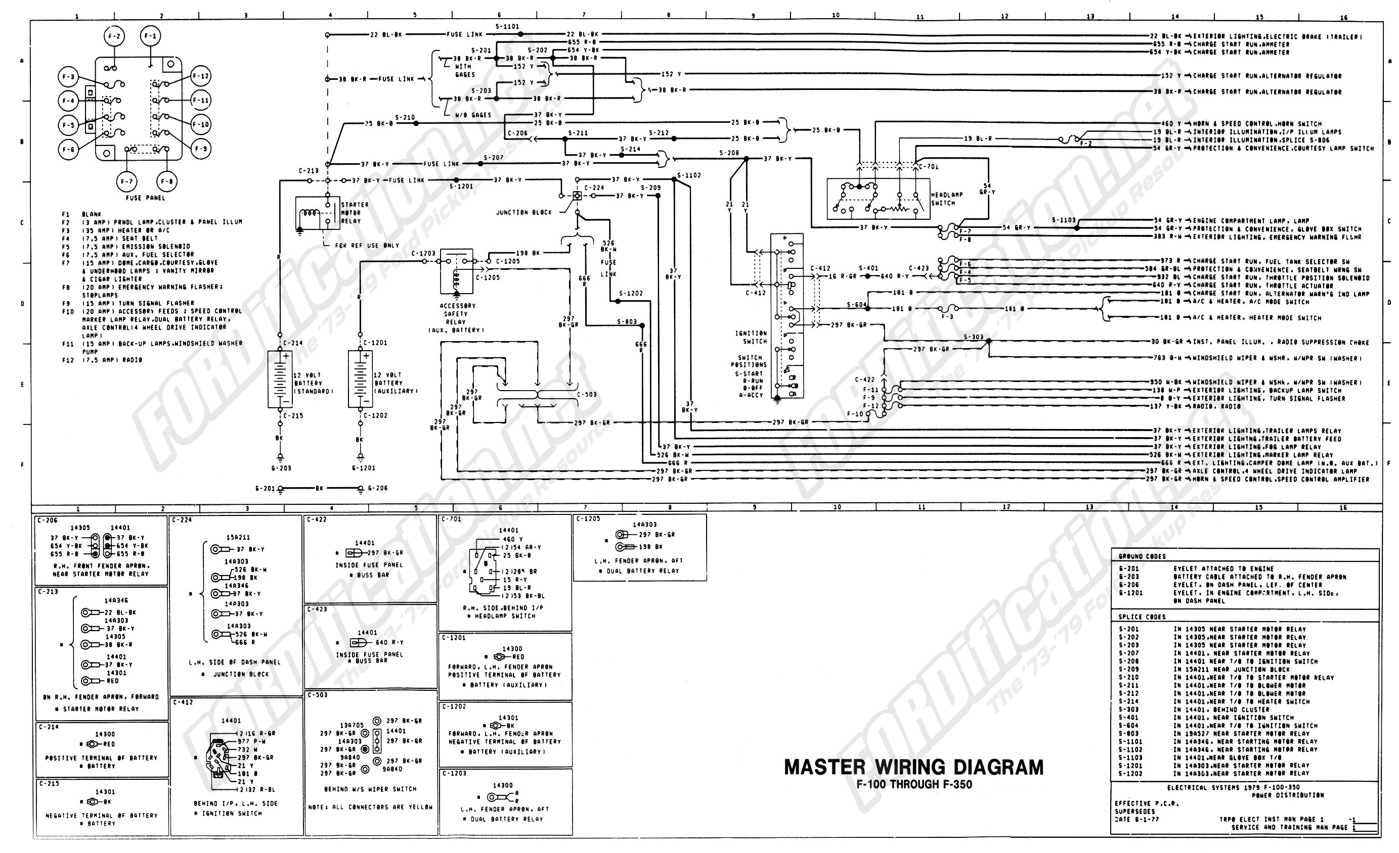 ford stereo wiring diagram Download-wiring 79master 1of9 16-k