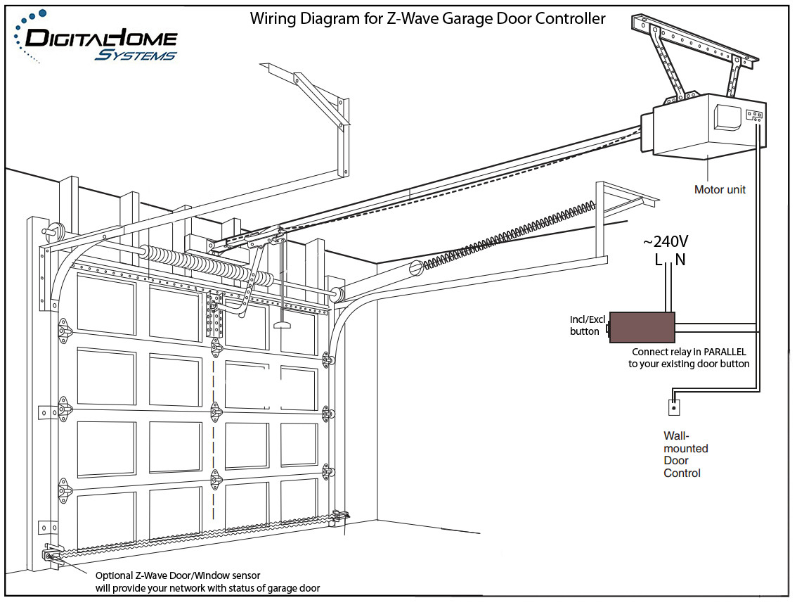 garage door sensor wiring diagram Download-Genie Garage Door Sensor Wiring Diagram Doors Design For 8-r