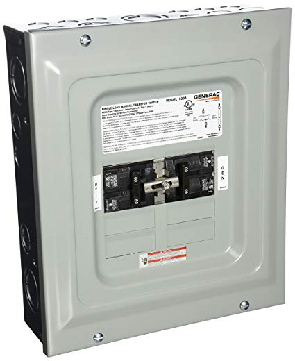 generac 6333 wiring diagram Collection-Generac 6333 60 Amp Single Load Double Pole Manual Transfer Switch for Portable Generators 11-g