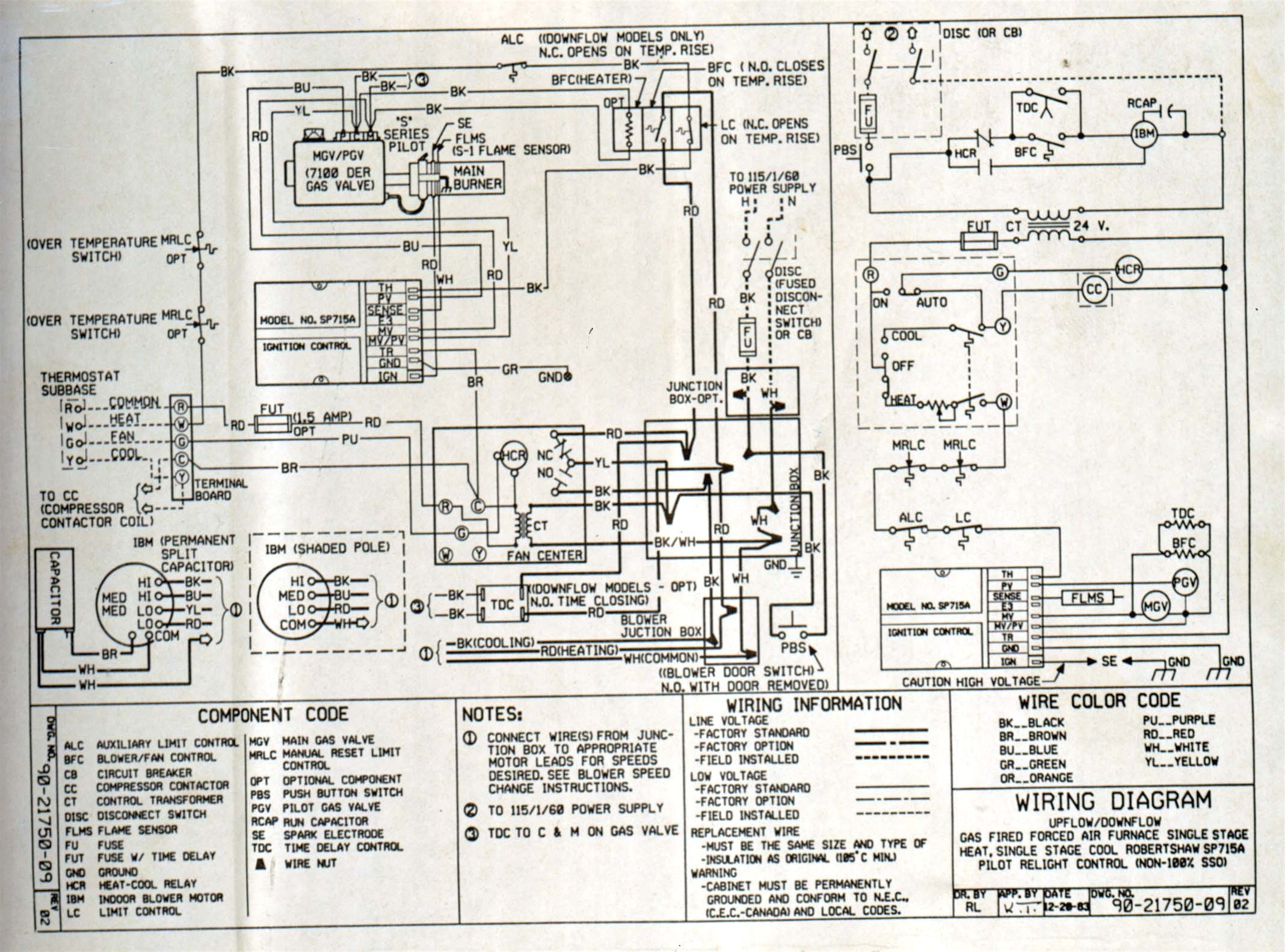 Goodman Ac Unit Wiring Diagram Collection | Wiring Collection