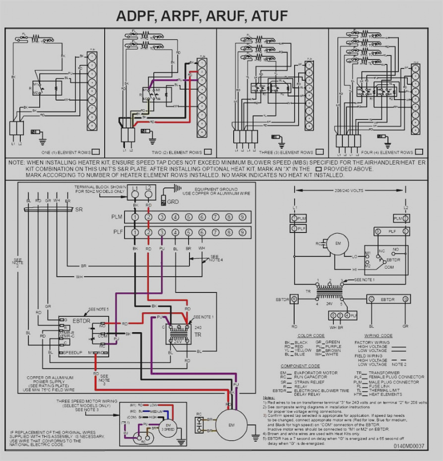 goodman aruf air handler wiring diagram Collection-Beautiful Goodman Aruf Air Handler Wiring Diagram Electric Furnace At Heat 1-a