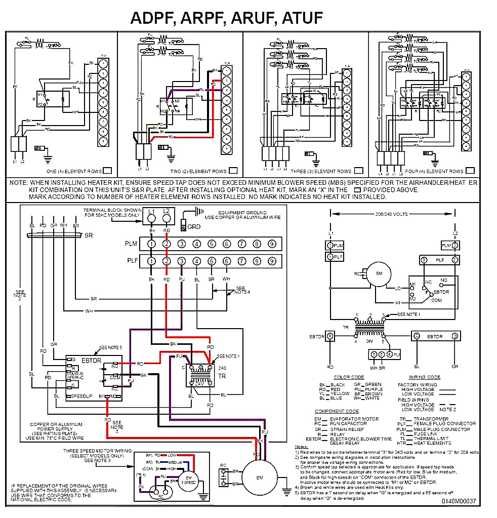 goodman heat pump air handler wiring diagram gallery