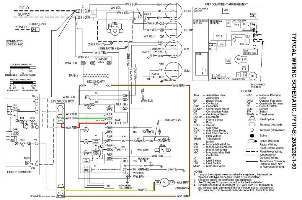 Bard thermostat wiring diagram