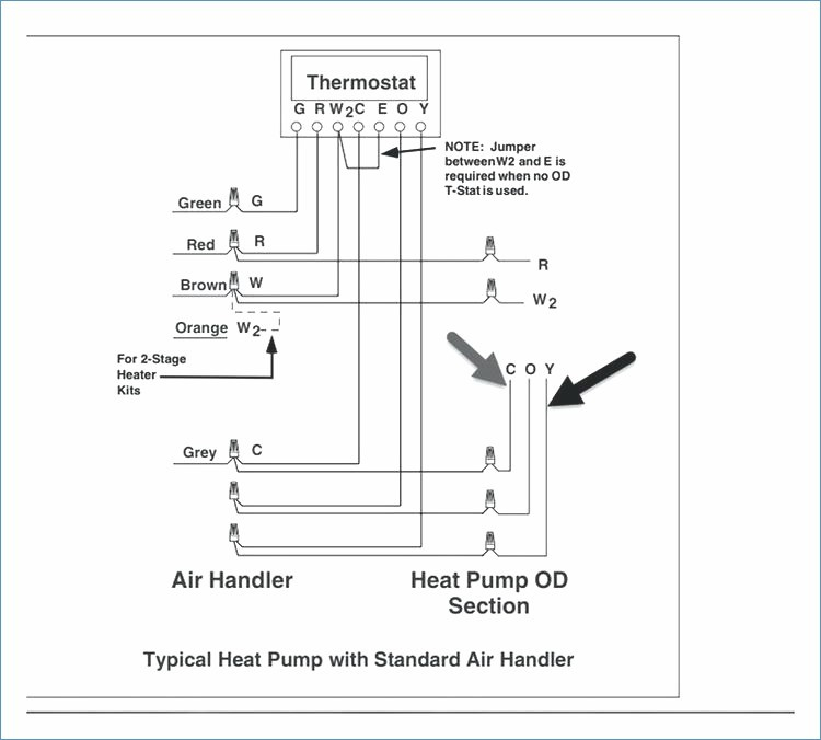 goodman package unit wiring diagram Collection-Heat Pump Low Voltage Wiring Diagram – Squished 10-o