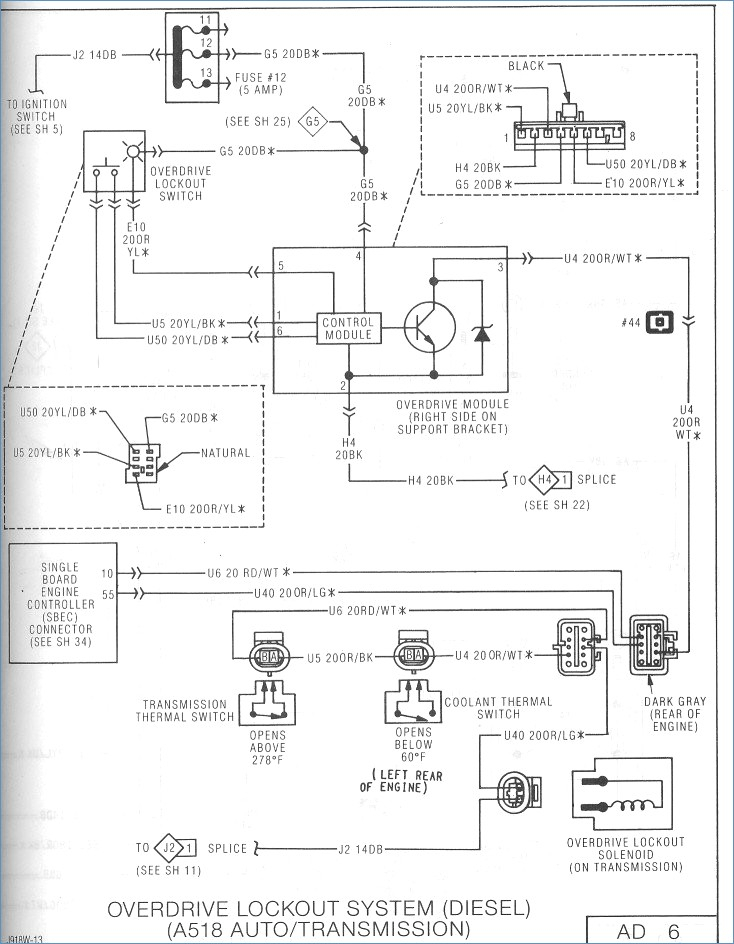gpi fuel pump wiring diagram Download-2006 dodge ram 2500 sel wiring diagram Collection 1993 Cummings 5 9L The overdrive is 9-f