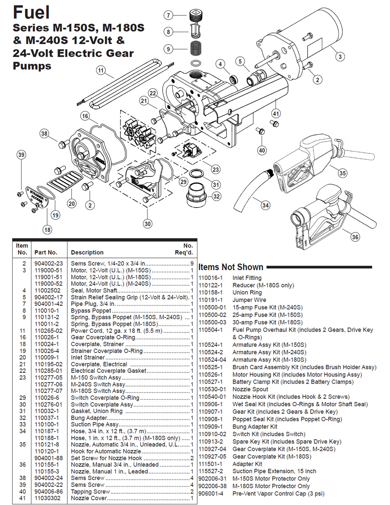 gpi fuel pump wiring diagram Collection-Gpi 12v Economy Model Fuel Pump Parts List Diagram Tuthill Transfer Wiring Diagram Full 3-p