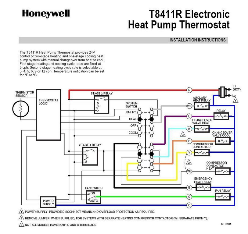 heat pump thermostat wiring diagram honeywell Collection-2 Wire Thermostat Wifi Honeywell Thermostat Wiring Color Code Honeywell Thermostat Heat Pump Wiring How To 18-r