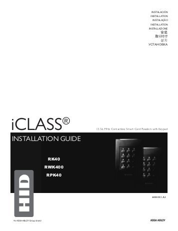 hid rp40 wiring diagram Collection-iCLASS Keypad Installation Guide HID Global 16-b