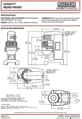 Hobart Mixer H600    Wiring       Diagram    Download      Wiring    Collection