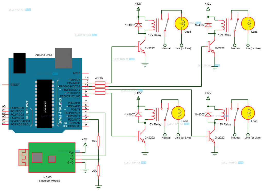 home automation wiring diagram Download-How To Make Arduino Based Home Automation Project via Bluetooth 5-t