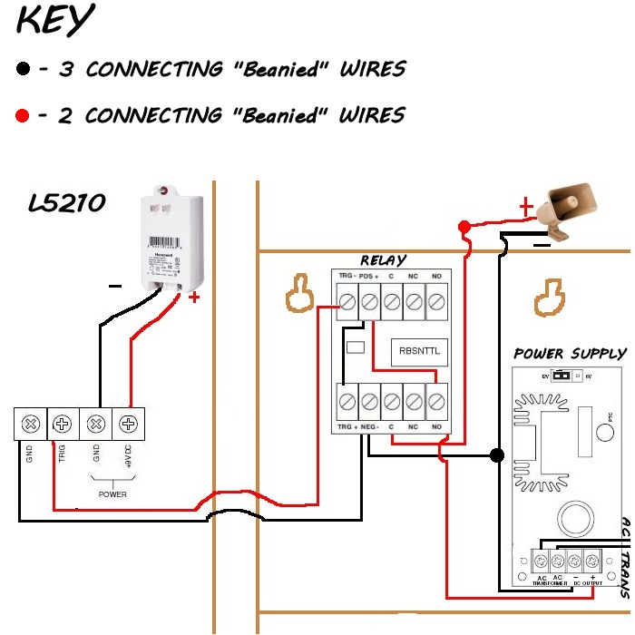 home security system wiring diagram Download-Honeywell SIRENKIT OD Kit Includes 18-b