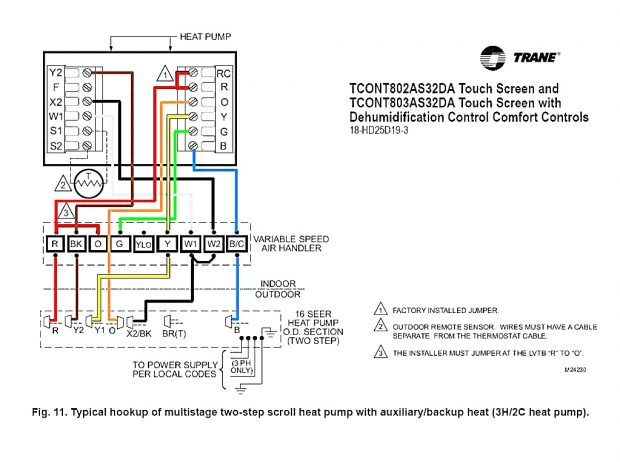 honeywell heat pump thermostat wiring diagram Download-Honeywell Heat Pump thermostat Wiring Diagram Inspirational Heat Pump Wiring Diagram Marvelous Model Carrier Instruction 18-m