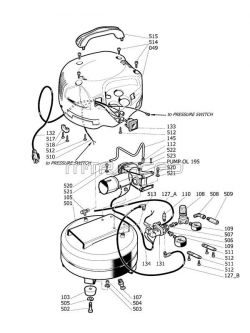 husky air compressor wiring diagram Download-250 HUSKY H1506FWH parts 11-b