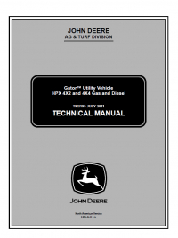 john deere gator hpx 4x4 wiring diagram Download-repair manual John Deere Gator Utility Vehicle HPX 4x2 & 4x4 Gas & Diesel Technical Manual TM 2195 17-c